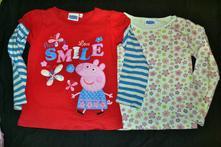 2x tričko peppa pig bavlněné, 116