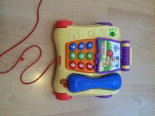 Tahací hrací telefon fischer price,