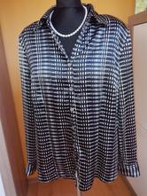 Černá halenka - košile - blůzka s puntíky, c&a,42