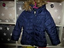 Tmavě modrá zimní bunda, zara,122