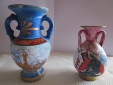 2x pěkné zajímavé vázy z egypta,