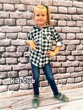 Kostkovaná dívčí košile mickey roll up rukáv, 98 - 164