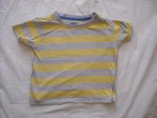 Pruhované tričko 12 - 18 m, f&f,80
