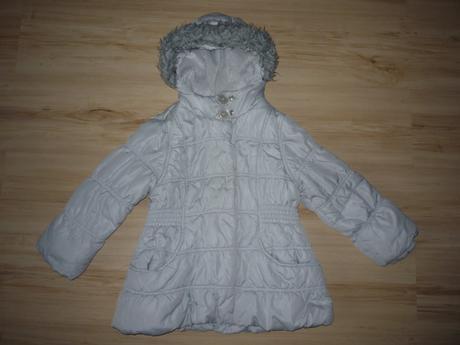 Šedá dívčí bunda na lítačku, george,116