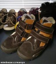 Dětské kozačky a zimní obuv   Tmavě hnědá - Dětský bazar  b89f66a6b7