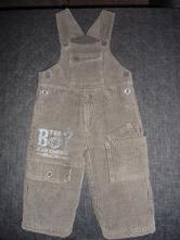 Chlapecké zateplené manžestrové kalhoty, lusa,74