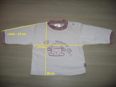 Sametové triko dl. rukáv, 68