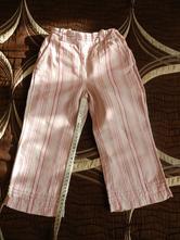 Kalhoty plátěné proužky, h&m,98