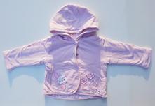 B73dívčí bavlněná bunda s kapucí, 68