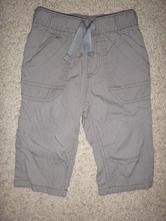 Plátěné kalhoty podšité bavlnou , next,74