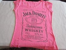 Pěkné růžové bavl. tričko s potiskem, 38