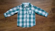 Krásná zeleno-bílá košile, c&a,86