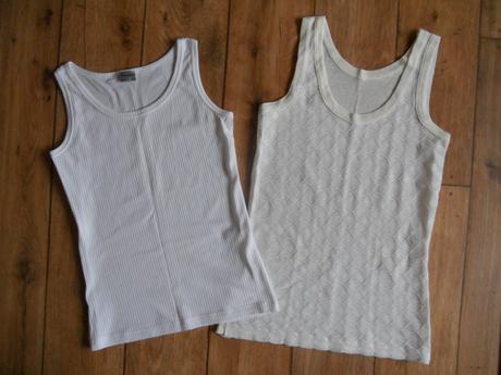 Bílá, krémová košilka, tílko, 2 ks, vel. m, m
