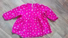 Růžové šaty m&s vel.12-18m, marks & spencer,86