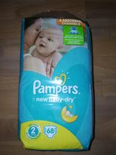 Pampers new baby-dry 2, 3-6 kg, 68 ks, pampers,2 kg - 6 kg