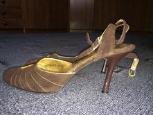 Hnědé boty na podpatku, 38