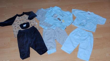 3 x domácí komplet pyžamo + bodýčko cena za vše, 68