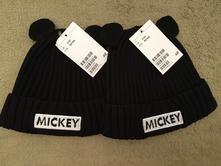 Mickey mouse čepičky, h&m,92 / 98 / 104