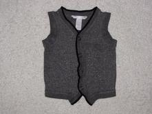 Teplejší vesta na knoflíčky, ba13, h&m,80