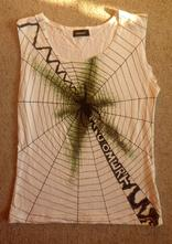 Originální dámské tílko s pavoukem., 36