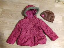 Teplá zimní bunda + čepice, f&f,104