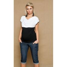 Těhotenské jeans 3/4 - granátové, l - xxxl