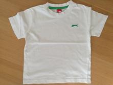 Bílé triko s krátkým rukávem, slazenger, 104, slazenger,104