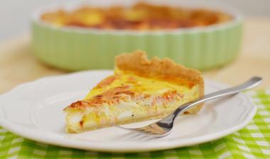 ♥Quiche s uzeným lososem, sýrem Brie a vejci♥