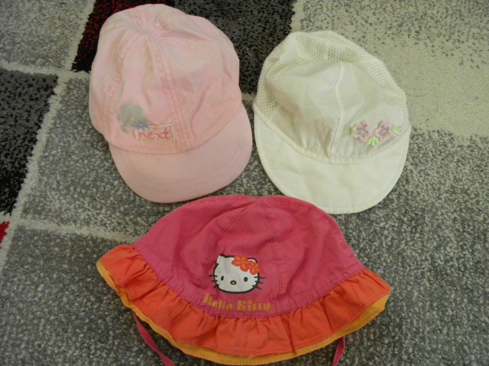 Kšiltovka + letní klobouček s hello kitty vel.86 1c562d3cb9