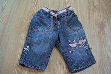 Zateplené džíny pro holčičku, 62