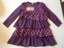 Volánkové bavlněné šaty, tu,104