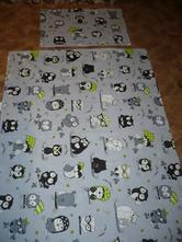 Povlečení sovičky na šedém 90x130, 40x60 cm, 90,130