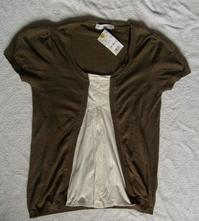 Úžasně heboučký triko-svetřík efekt 2v1 - vel.s-m, m / s