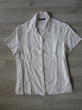 Bílá lněná košile, 40