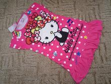 Letní šatičky (pyžamo) motiv hello kitty č.3, 98 / 104 / 110