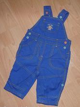 Modré plátěné kalhoty s laclem rolovací, george,68