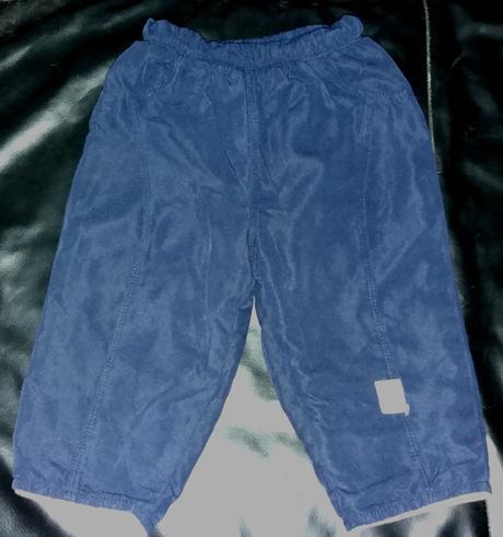 Teplé modré kalhoty s podšívkou, 74