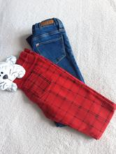 Dívčí elastické džíny - set, h&m,128