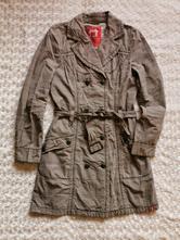 Kabát károvaný kabátek trenčkot, esprit,m