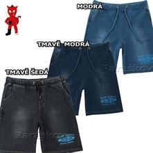 Bavlněné kraťasy, šortky pro kluky, riflový vzhled, wolf,134