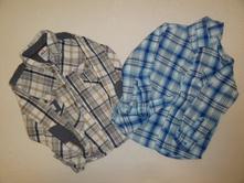 2 ks chlapeckých košil vel 5-6 let, bluezoo,116