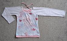 Bílé tričko se třpytivým potiskem, 152