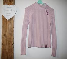 Růžový svetr vel xs-s, s