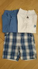 Komplet 2x triko s límečkem a kraťasy, baby club,86