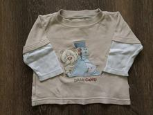 Bavlněné tričko s medvědem mothercare, mothercare,68