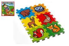 Pěnové puzzle lesní zvířátka 15x15 cm,