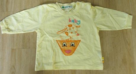 E45-tričko dlouhý rukáv žluté, frog,80