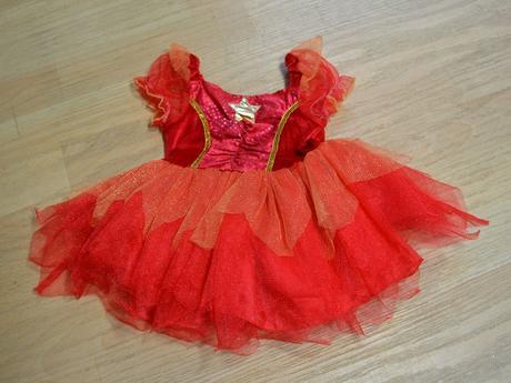 Šaty červené, karnevalový kostým,