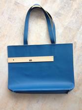 Blankytná modrá nákupní taška praktická kabelka,