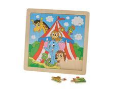 Dřevěné puzzle cirkus,